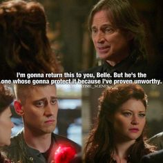 "Rumple, Belle and Will -  4 * 19 ""Lily"" Ho don't do it don't fall for his sh**"