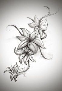 Lily tattoo designs for women. - Lily tattoo designs for women. Star Tattoos, Love Tattoos, Beautiful Tattoos, Body Art Tattoos, Celtic Tattoos, Skull Tattoos, Hip Bone Tattoos, Emo Tattoos, Lower Stomach Tattoos