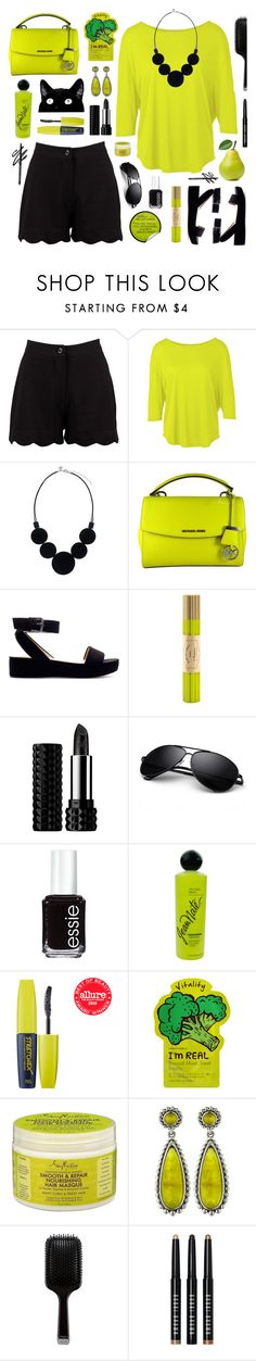 """Untitled #1537"" by tinkertot ❤ liked on Polyvore featuring Boohoo, MICHAEL Michael Kors, Zara, Fine & Candy, Wallflower, Kat Von D, Essie, Revlon, Touch in Sol and Tony Moly"