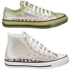 ec2f067fe70 Transparent and Glow in the Dark Converse Weird Shoes