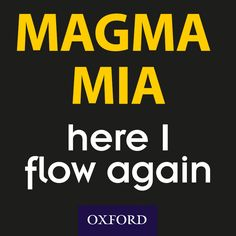 'Magma Mia, here I flow again' Geography puns, geology puns