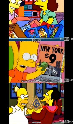 End The illuminati - Simpsons 911/ freemason references