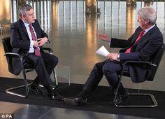 Jeremy Paxman and Gordon Brown