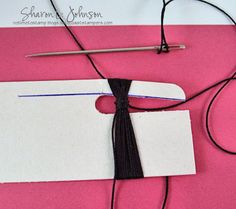 tassel tutorial for graduation card
