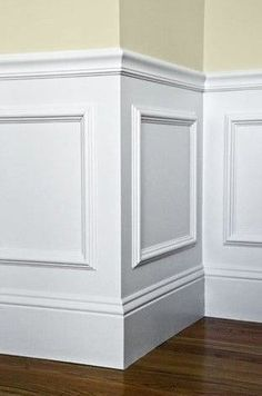 Easy wainscotting idea: buy frames from Michaels, glue to wall and paint over entire lower half. Got this tip from a savvy home improvement person.DDING Easy wainscotting idea: buy frames from Michaels, glue to wall and paint over entire lower half. Foyer Design, House Design, Staircase Design, My New Room, Home Projects, Home Remodeling, Remodeling Contractors, Kitchen Remodeling, Home Renovation