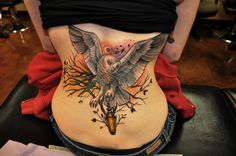 So I love owls & have an owl tat myself but this one is beautiful.done by cristina garcia