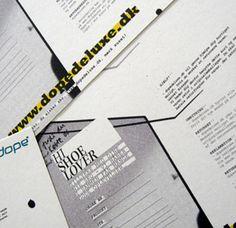 Postkort til skokæden DOPE/ Udarbejdet af grafisk designer Anne Mark Møller / Designbureauet Anetmai