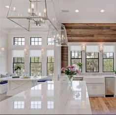 Everything including the window benches! #whitekitchen #white #wood #kitchendesign