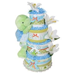 Google Image Result for http://images.diapercakesmall.com/large/Lily_Pond_Turtle_Baby_Diaper_Cake_LRG.jpg