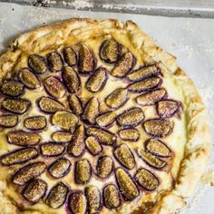 Fig and Ricotta Tart - brandied figs and creamy ricotta come together in this easy, yet elegant dessert.