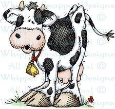 Maribel Cow - Farm - Animals - Rubber Stamps - Shop