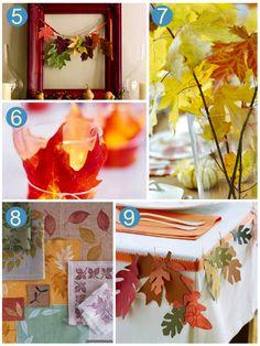 Leaf Inspired Thanksgiving Decoration Ideashttp://blog.oubly.com/leaf-inspired-thanksgiving-decoration-ideas/     #thanksgivingdecorations #thanksgiving
