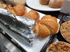 Farm to Market Bread Company croissants with egg, ham and cheese