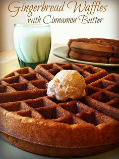 Gingerbread Waffles with Cinnamon Butter?!?! It's FALL SEASON!