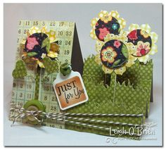 Beautiful side step card! Tutorial here: http://www.splitcoaststampers.com/resources/tutorials/sidestepcard/