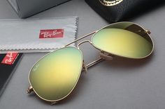 Ray Ban Aviator Flash RB3025 112 93 Yellow Mirror Gold Frame 58 14 ...