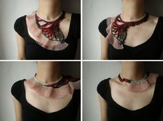 crazy beautiful, beaded crochet necklace $128