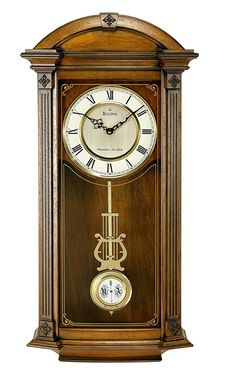 Bulova Hartwick Old World Clock, Walnut Finish