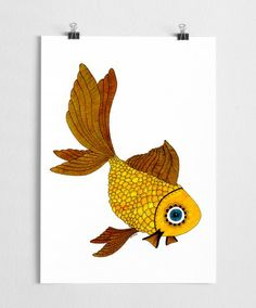 Goldfish - Art print (A4) - ART