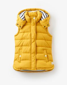 Wavely Antique Gold Gilet | Joules UK