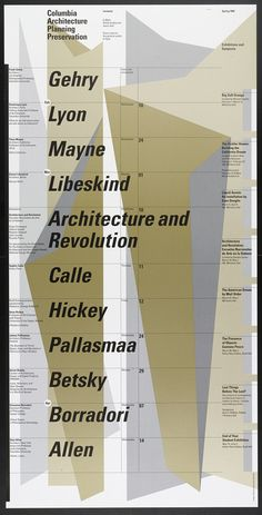 Willi Kunz – Columbia University, Graduate School of Architecture, Planning and Preservation Lecture Series Spring 1999