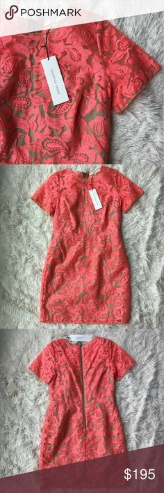 """NWT Veronica Beard Dress Pink Veronica Beard sheath dress with floral embroidery throughout, scoop neck, short sleeves and exposed zip closure at center back. Bust: 35"""" Waist: 28"""" Hip: 38"""" Length: 34.5"""" Veronica Beard Dresses"""