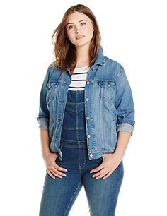 Levi's Women's Plus-Size Trucker Jacket -- You can get additional details at the image link. (This is an affiliate link)