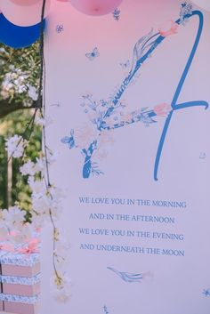 Floral Signage from a Floral Vineyard Baptism Celebration on Kara's Party Ideas | KarasPartyIdeas.com (28)
