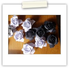 Origami roses