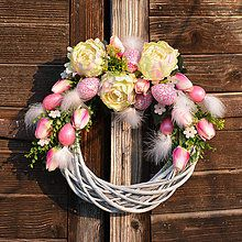 Veľkonočný veniec s pivonkami / Hydrangea - SAShE. Grapevine Wreath, Grape Vines, Floral Wreath, Wreaths, Hydrangea, Home Decor, Floral Crown, Decoration Home, Door Wreaths