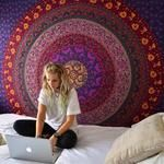 Cheap tapestry wall, Buy Quality tapestry wall hanging directly from China hanging wall tapestries Suppliers: Enipate Large Mandala Indian Tapestry Wall Hanging Bohemian Beach Towel Polyester Thin Blanket Yoga Shawl Mat Blanket Indian Tapestry, Bohemian Tapestry, Mandala Tapestry, Tapestry Wall Hanging, Wall Hangings, Psychedelic Tapestry, Tapestry Fabric, Hanging Art, Purple Tapestry