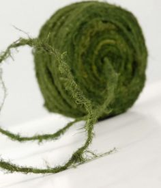 75 foot roll Faux Moss wire-Bendable moss wire -Faux Woodland forest vines. $16.00, via Etsy.