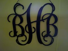 3 Letter Metal Monogram by BackyardMetalArts on Etsy, $50.00