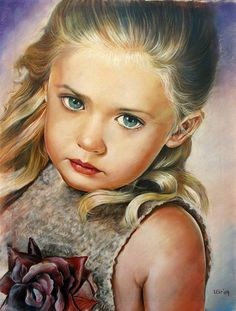 Colored Pencils Art Work By Artist Leonart - very young beauty Portrait Au Crayon, Colored Pencil Portrait, Color Pencil Art, Portrait Art, Portraits, Pencil Painting, Painting & Drawing, Watercolor Pencils, Pencil Drawings