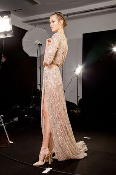 mulberry-cookies:  Backstage @ Elie Saab F/W 2012