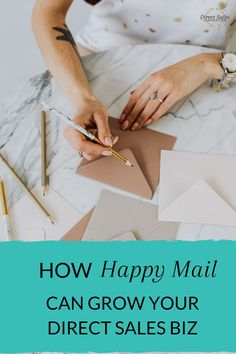 Use 'happy mail' to grow your direct sales business and retain customers, hosts and teamies! Don't forget to download the free printable! #directselling #directsales #partyplanconsultant Call Happy, Goal Setting Worksheet, Body Shop At Home, Leadership Tips, My Philosophy, Engagement Cards, Pure Romance, Thirty One Gifts, Congratulations Card