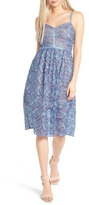 WOMEN'S DEVLIN ELOISE EMBROIDERED LACE SLIPDRESS