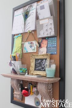 Embrace My Space: DIY Home Command Center #organization #mail #keyhook