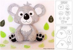 Koala de fieltro con moldes gratis04