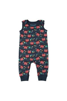 Wheels on the bus Kneepatch Dungarees -12-18 months