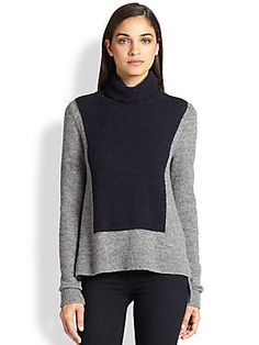 A.L.C. Calvin Colorblock Turtleneck Sweater