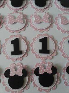 30 apliques/tags/scrapbook/lembrancinhas minnie rosa