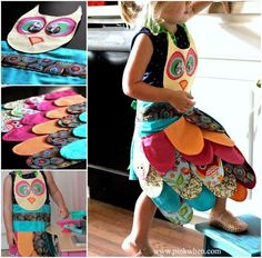 How to make a kids owl apron diy owl diy ideas diy crafts do it yourself diy projects kids crafts kids apron