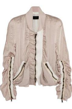 Satin bomber jacket #bomberjacket #offduty #covetme #haiderackermann