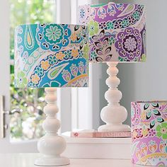 paisley lamp shades from PB teen