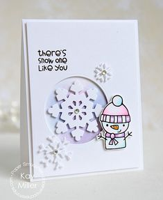 Card by Kay Miller using PS Cool Dudes stamps/dies, Large Snowflake dies