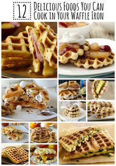 12 crazy-good recipes to try making in your waffle iron!