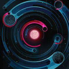 Cestial Renegades - illustration for New Scientist, by Sam Chivers Best Logo Fonts, Game Design, Design Art, Ps Wallpaper, Album Cover, Design Graphique, Grafik Design, Motion Design, Graphic Design Inspiration