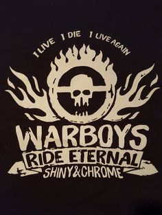 War Boys Mad Max Fury Road back patch by PatchAddams on Etsy