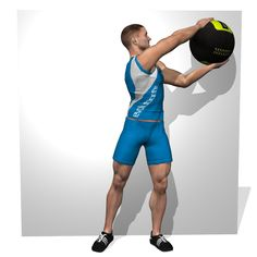 WALLBALL STANDING CHOP AND LIFT